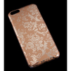 Чехол-накладка для Apple iPhone 6 Plus, 6s Plus 5.5 (R0006422) (Золотые цветы) - Чехол для телефонаЧехлы для мобильных телефонов<br>Плотно облегает корпус и гарантирует надежную защиту от царапин и потертостей.<br>