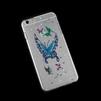 Чехол-накладка для Apple iPhone 6 Plus, 6s Plus 5.5 (R0006408) (бабочка синяя) - Чехол для телефонаЧехлы для мобильных телефонов<br>Плотно облегает корпус и гарантирует надежную защиту от царапин и потертостей.<br>