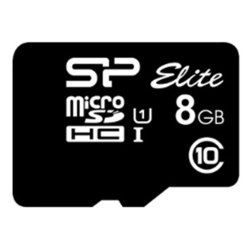 Silicon Power ELITE microSDHC 8GB UHS Class 1 Class 10 w/o adapter