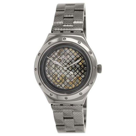 Swatch YAB101G. stenas: механические наручные часы, мужские, аналоговые, корпус из стали, браслет: нерж. сталь