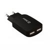 Универсальное сетевое зарядное устройство, адаптер 2хUSB, 3.1A (Zetton ZTTC3A2U) (черный) - Сетевой адаптер 220v - USB, ПрикуривательСетевые адаптеры 220v - USB, Прикуриватель<br>Аксессуар для зарядки устройства от сети переменного тока.<br>