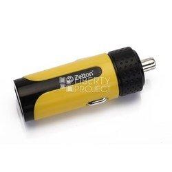 Автомобильное зарядное устройство USB (ZTLSCC1A1UBY) (черный, желтый)