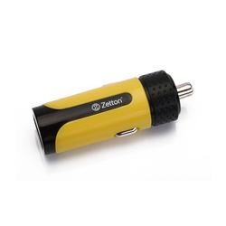 Автомобильное зарядное устройство USB (ZTLSCC2A1UBY) (черный, желтый)