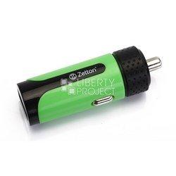 Автомобильное зарядное устройство USB (ZTLSCC2A1UBG) (черный, зеленый)