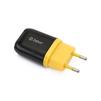 Универсальное сетевое зарядное устройство, адаптер 1хUSB, 1А (ZTLSTC1A1UBY) (черный, желтый) - Сетевой адаптер 220v - USB, ПрикуривательСетевые адаптеры 220v - USB, Прикуриватель<br>Аксессуар предназначен для зарядки Вашего устройства от сети переменного тока.<br>