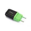 Универсальное сетевое зарядное устройство, адаптер 1хUSB, 1А (ZTLSTC1A1UBG) (черный, зеленый) - Сетевой адаптер 220v - USB, ПрикуривательСетевые адаптеры 220v - USB, Прикуриватель<br>Аксессуар предназначен для зарядки Вашего устройства от сети переменного тока.<br>