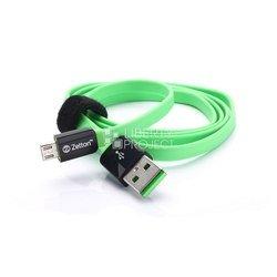 Дата-кабель USB - microUSB (ZTLSUSBFCMCBG) (черный, зеленый)