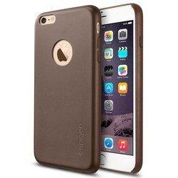 "Чехол-накладка для Apple iPhone 6 Plus, 6s Plus 5.5"" (Spigen Leather Fit SGP11401) (коричневый)"