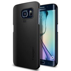 клип-кейс для samsung galaxy s6 edge (spigen thin fit sgp11408) (черный)