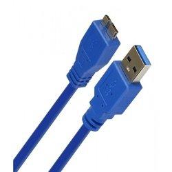 Кабель USB 3.0 A-microUSB B 1.8м (Smartbuy K750-25) (синий)