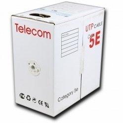 Витая пара UTP кат. 5e CCA Telecom UTP4-TC305C5EPRO-CCA-IS (серый) (305м, 0.52мм)