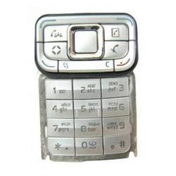 Клавиатура для Nokia E65 (LP 335) (серебристый)