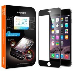 "защитное стекло для apple iphone 6 plus 5.5"" spigen screen protector full cover glass (sgp11378) (черный)"