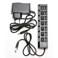 USB HUB 7 портов (5bites HB27-203PBK) (черный)