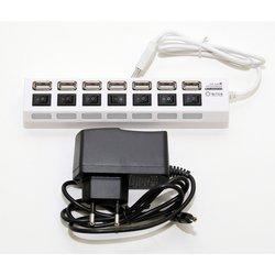 USB HUB 7 портов (5bites HB27-203PWH) (белый)