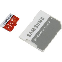 Samsung MB-MC64GA microSDXC 64Gb Class10 EVO+ с SD адаптером (MB-MC64DA/RU)