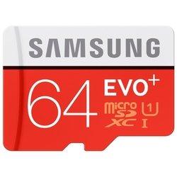 Samsung microSDXC Class10 EVO+ 64Gb+SD ������� (MB-MC64DA/RU)