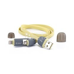 дата-кабель usb - microusb, apple 8-pin lightning (0l-00000247) (желтый)