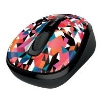 microsoft wireless mobile mouse 3500 geometric black-blue usb