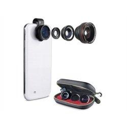 Универсальный набор объективов для смартфонов и планшетов (Muvit FISHEYE MUGOO0009)