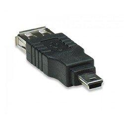 Переходник USB-miniUSB (5bites UA-AF-MIN5) (черный)
