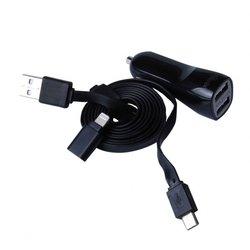 Универсальное автомобильное зарядное устройство Ritmix RM-215 (черный)