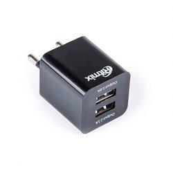 Универсальное сетевое зарядное устройство Ritmix RM-118 (черный)