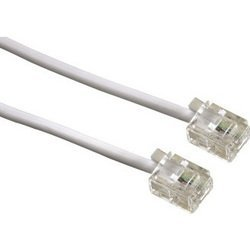 Телефонный кабель 6p4c-6p4c (m-m) (Hama H-44490) (белый)