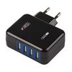 Универсальное сетевое зарядное устройство, адаптер 4хUSB, 3.1А (Liberti Project 0L-00000646) (черный) - Сетевой адаптер 220v - USB, ПрикуривательСетевые адаптеры 220v - USB, Прикуриватель<br>Аксессуар предназначен для зарядки Вашего устройства от сети переменного тока.<br>
