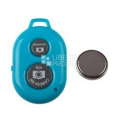 Bluetooth пульт управления камерой мобильного телефона или планшета на расстоянии, пульт для селфи (0L-00000467) (голубой)