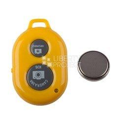 Bluetooth пульт управления камерой мобильного телефона или планшета на расстоянии, пульт для селфи (0L-00000470) (желтый)