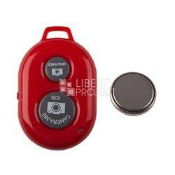 Пульт Bluetooth для селфи для мобильных телефонов (0L-00000469) (красный)