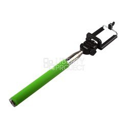 Монопод, палка для селфи с Bluetooth кнопкой для мобильных телефонов (0L-00000479) (зеленый)