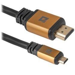 Кабель HDMI-MicroHDMI Defender HDMI08-04PRO (87462) (черный)