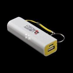 Внешний аккумулятор 1xUSB 2600 мАч (R0007806) (белый, желтый)