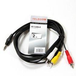 Кабель 3.5 Jack (M) -3 RCA (M) (Telecom TAV4545-2M)