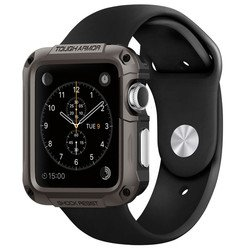 Чехол для Apple Watch 42мм Spigen Tough Armor (SGP11504) (стальной)