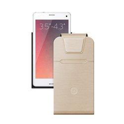 Универсальный чехол-флип для смартфонов 3.5-4.3'' (Deppa Flip Fold S 87017) (золотистый)
