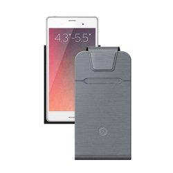 Универсальный чехол-флип для смартфонов 4.3-5.5'' (Deppa Flip Fold M 87021) (серый)