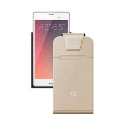 Универсальный чехол-флип для смартфонов 4.3-5.5'' (Deppa Flip Fold M 87022) (золотистый)