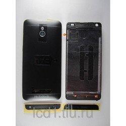 Корпус для HTC One mini c боковыми клавишами (70074) (черный)