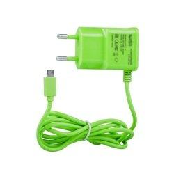 Сетевое зарядное устройство microUSB (0L-00000677) (зеленый)