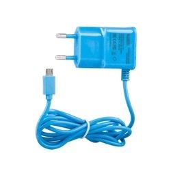 Сетевое зарядное устройство microUSB (0L-00000678) (синий)