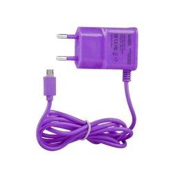 Сетевое зарядное устройство microUSB (0L-00000686) (фиолетовый)
