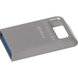 kingston datatraveler micro 64gb (dtmc3/64gb) (серебристый)