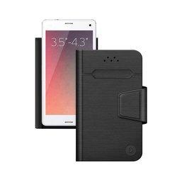 """Универсальный чехол-книжка для смартфонов 3.5""""-4.3"""" (Deppa Wallet Fold S 87000) (черный)"""