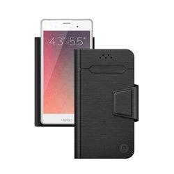 """Универсальный чехол-книжка для смартфонов 4.3""""-5.5"""" (Deppa Wallet Fold M 87005) (черный)"""