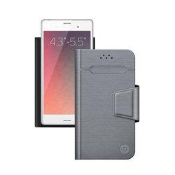 """Универсальный чехол-книжка для смартфонов 4.3""""-5.5"""" (Deppa Wallet Fold M 87006) (серый)"""