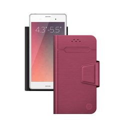 """Универсальный чехол-книжка для смартфонов 4.3""""-5.5"""" (Deppa Wallet Fold M 87008) (красный)"""