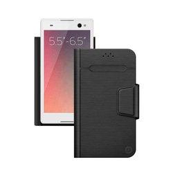 """Универсальный чехол-книжка для смартфонов 5.5""""-6.5"""" (Deppa Wallet Fold L 87010) (черный)"""
